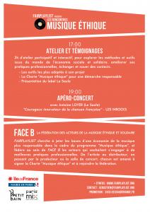 Invitation FACE B - Rencontres Musique éthique V